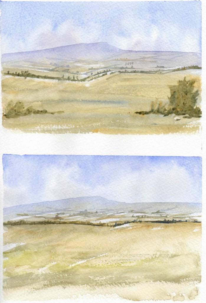 Watercolor Landscape studies