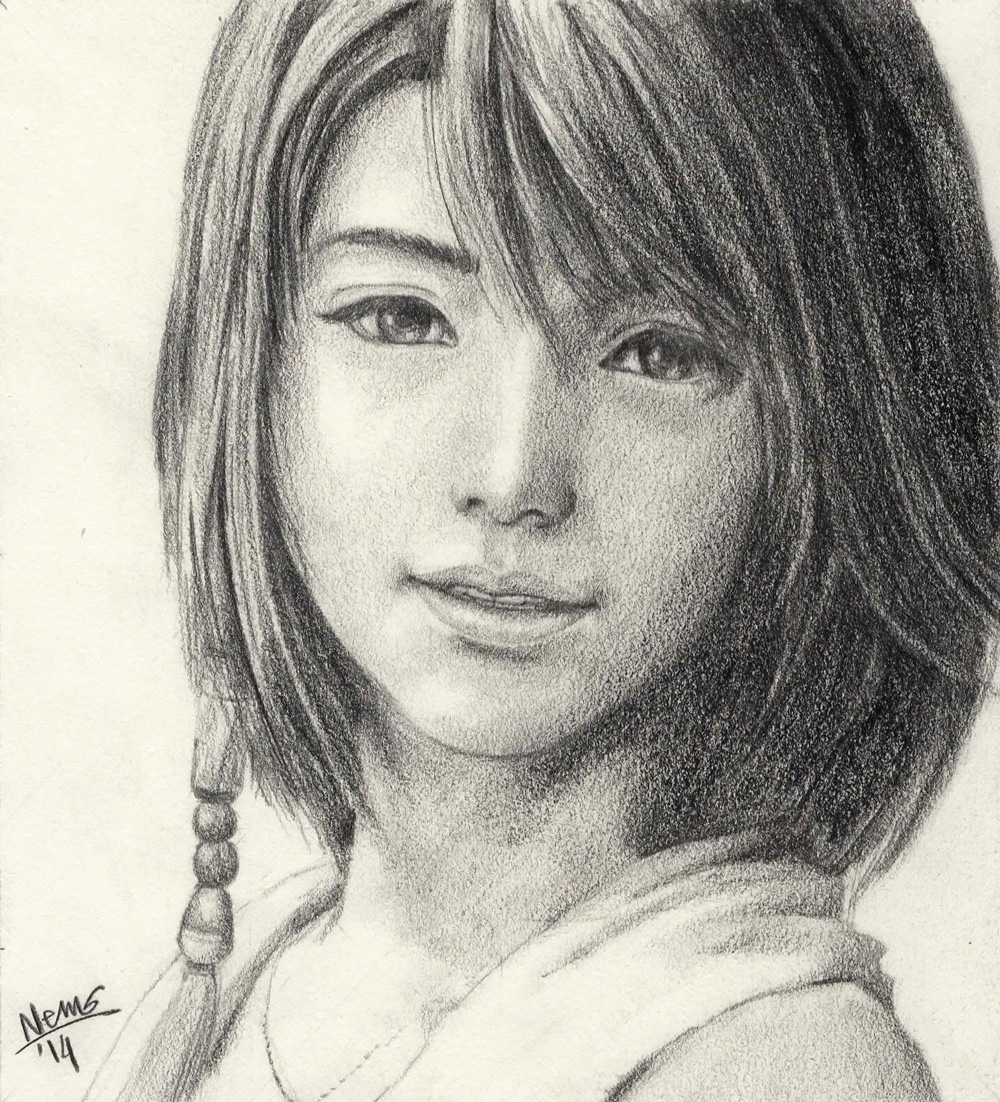 Portrait Sketch - Yuna