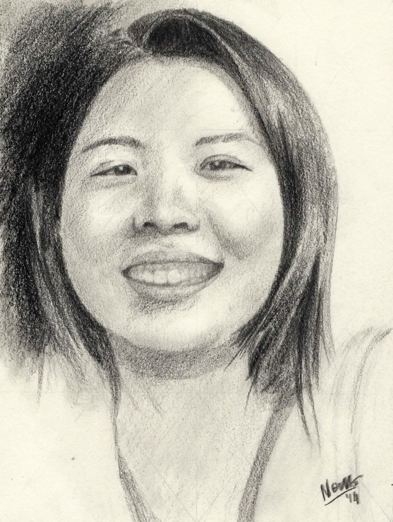 Portait sketch: Yuki