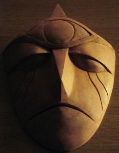 Clay sculpture: Gargoyle Mask 2
