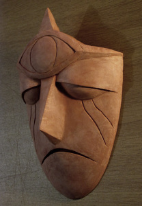 Clay sculpture: Gargoyle Mask 3