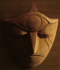 Clay sculpture: Gargoyle Mask 5