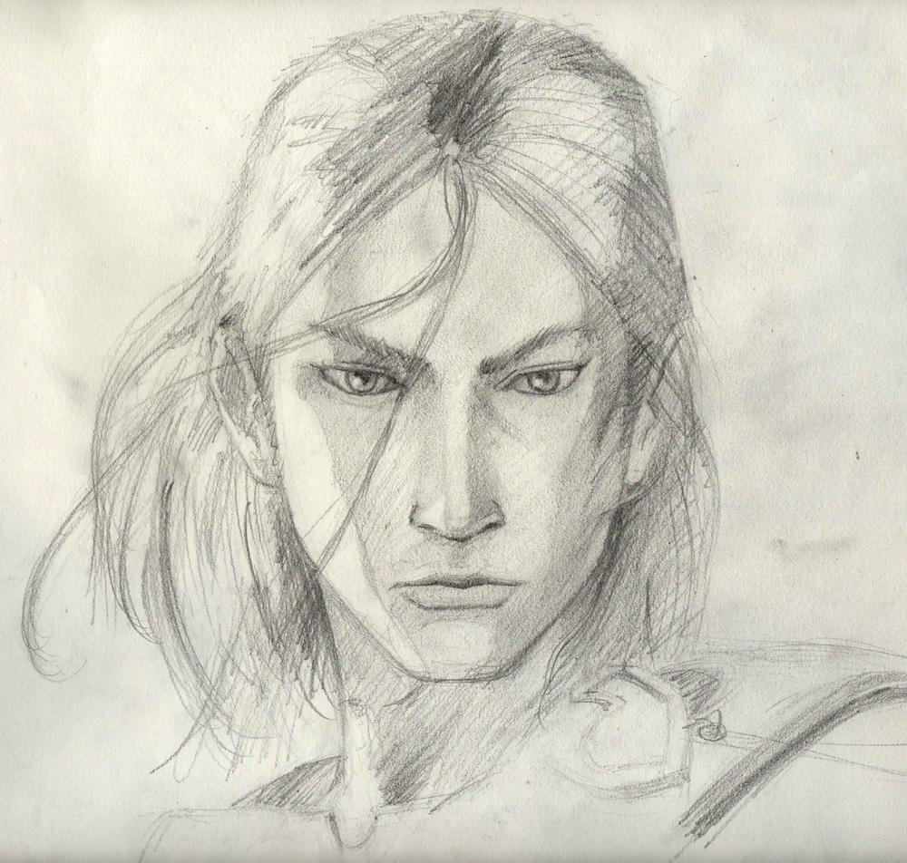 Pencil Sketch of Kaim Argonar - Lost Odyssey