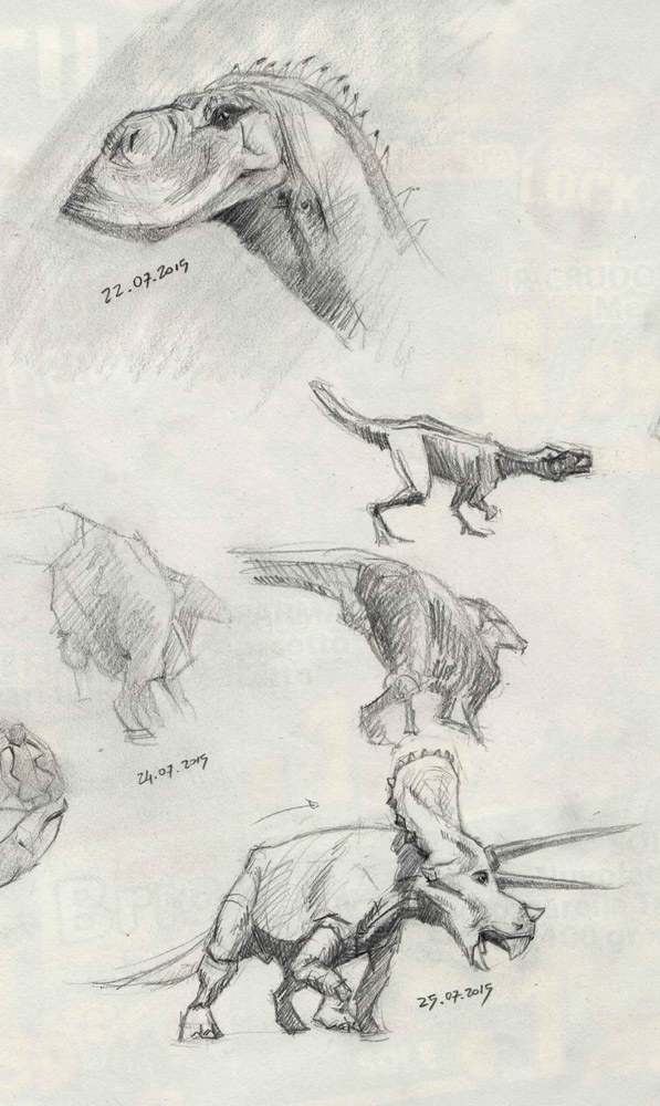 Dinosaurs Sketches 5