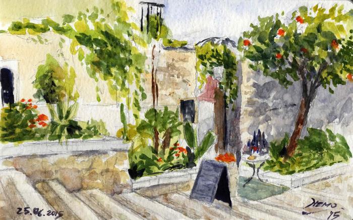 Sketchwalk Taormina - Watercolor
