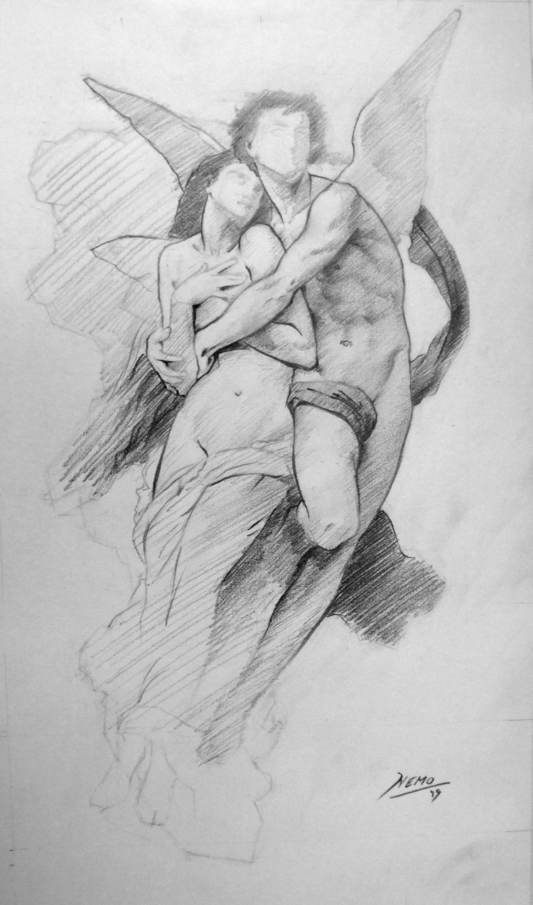 Psyche Abduct - Master Study of Bouguereau