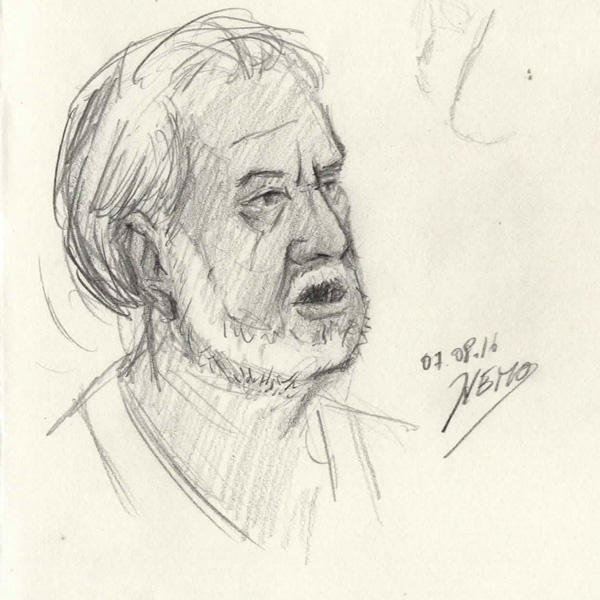 Pippo Gullotto pencil Sketch