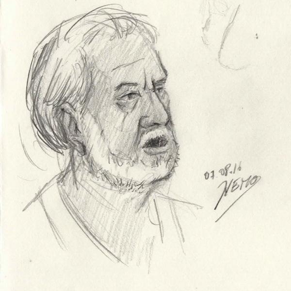 Pippo Gullotto pencil Sketch