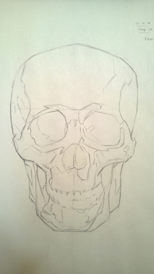 Skull Copy from Watts Atelier - Front View