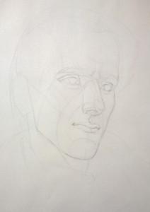 Watts Atelier Skill Building Challenge 21 - Self Portrait by Nemo week 1 lay-in