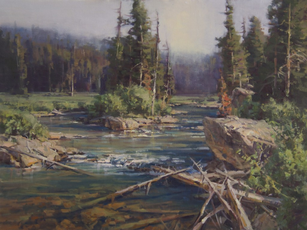 Scott Christensen River Painting