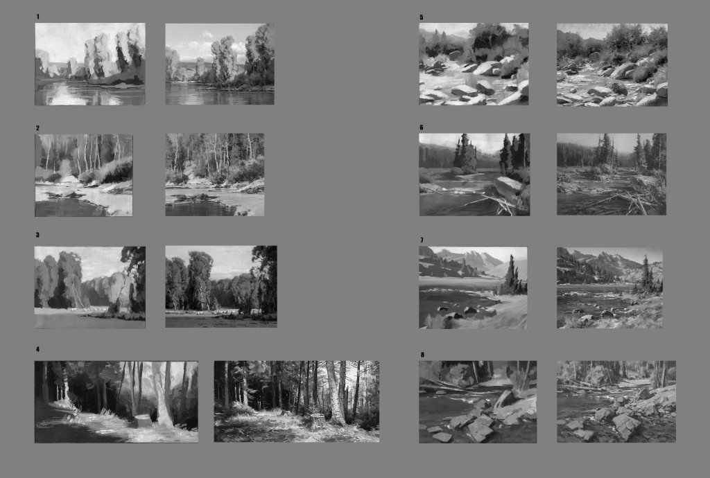Landscape Master Studies in Gouache