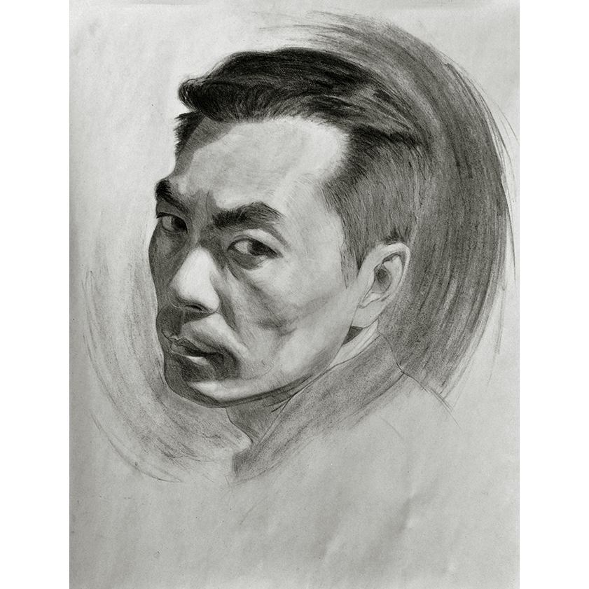 Charcoal Portrait - Bob Greene
